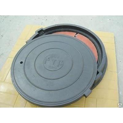 Люк полимерно-песчаный ПП 620/750/600/35 тип Л 3 тн черный