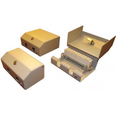 Коробка КРТ 10х2 (КРТМ 10х2) с замком (метал.корпус, врезные плинты)