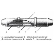 Муфта свинцовая соединительная разрезная МССР-1