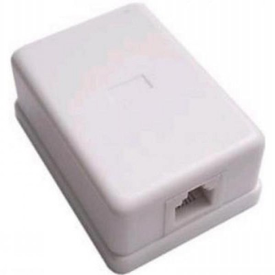 Розетка телефонная 1хRJ -11 6З4С белая