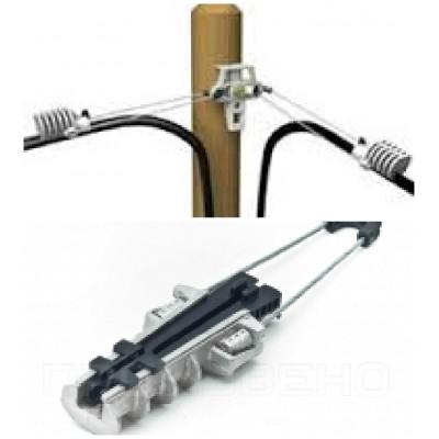 AС10 500 Зажим анкерный для 8-образных кабелей диам. 7-10 мм со стальным несущим элементом 200-500 кгс