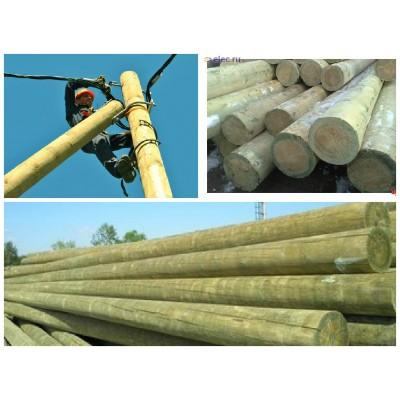 Опоры ЛЭП деревянные 9,5 м