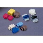 Скотчлок® U1-B соединитель, жила 0.9 - 1.3мм, изол. до 3,18мм, прозрачный, синяя крышка
